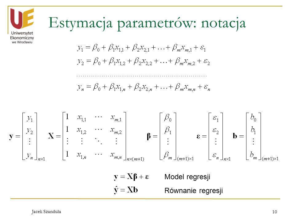 Estymacja parametrów: notacja