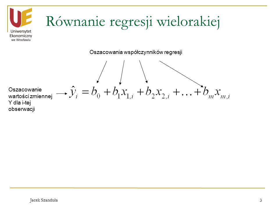 Równanie regresji wielorakiej