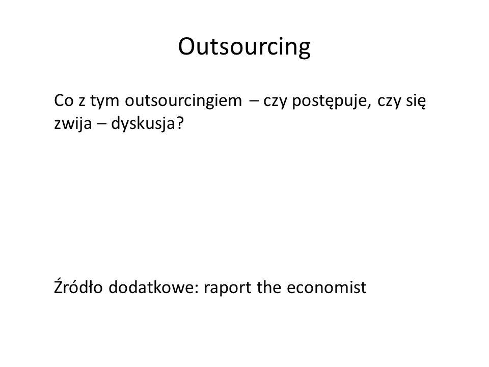 Outsourcing Co z tym outsourcingiem – czy postępuje, czy się zwija – dyskusja.