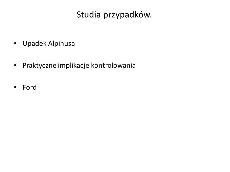 Studia przypadków. Upadek Alpinusa Praktyczne implikacje kontrolowania