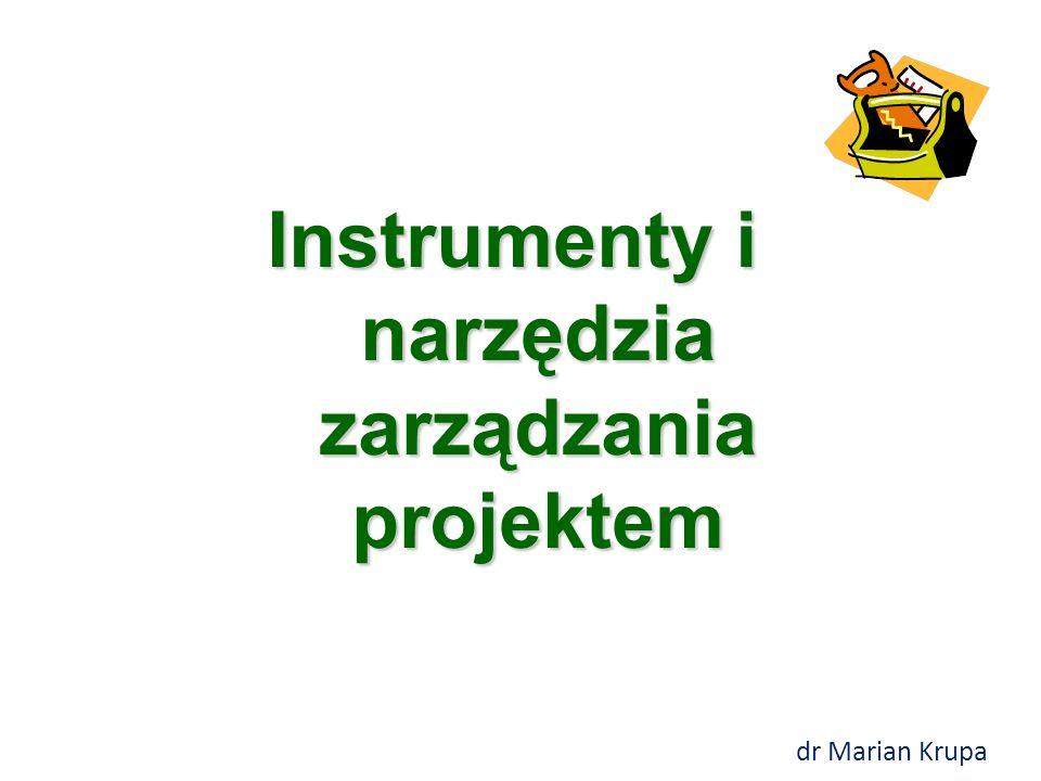Instrumenty i narzędzia zarządzania projektem