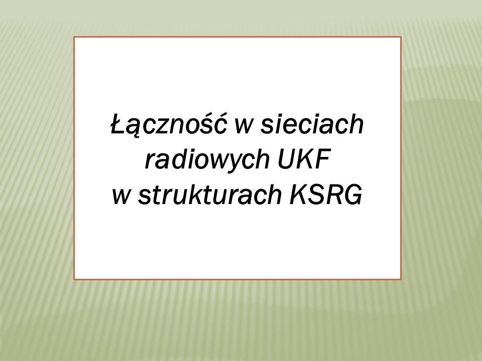 Łączność w sieciach radiowych UKF