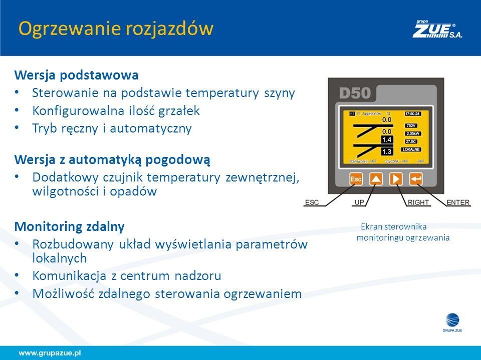 Ekran sterownika monitoringu ogrzewania