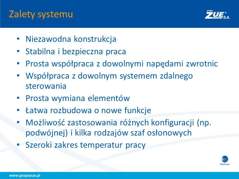 Zalety systemu Niezawodna konstrukcja Stabilna i bezpieczna praca