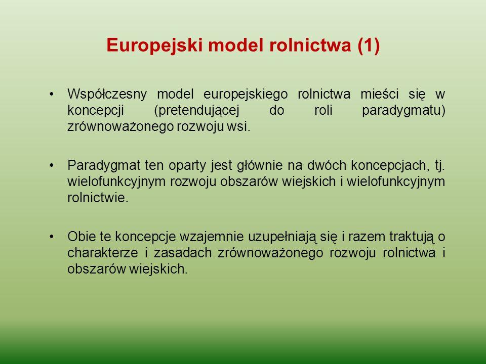 Europejski model rolnictwa (1)