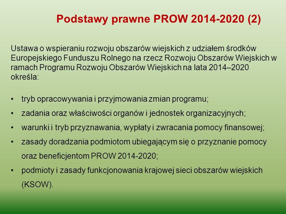 Podstawy prawne PROW 2014-2020 (2)