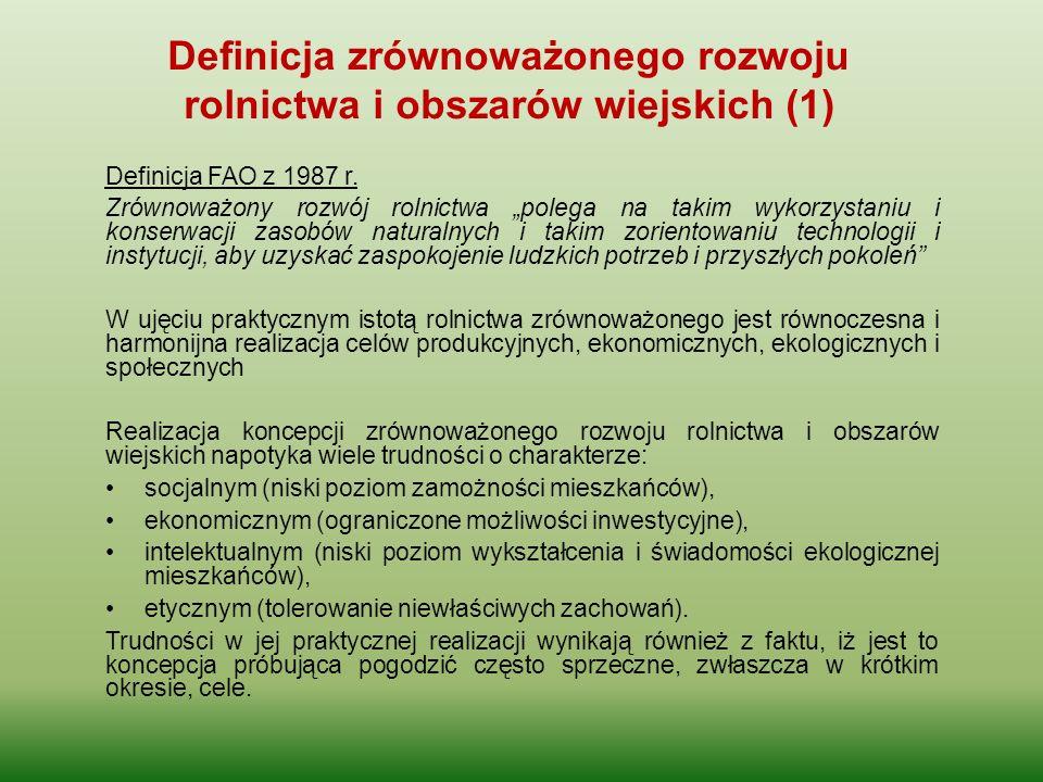 Definicja zrównoważonego rozwoju rolnictwa i obszarów wiejskich (1)
