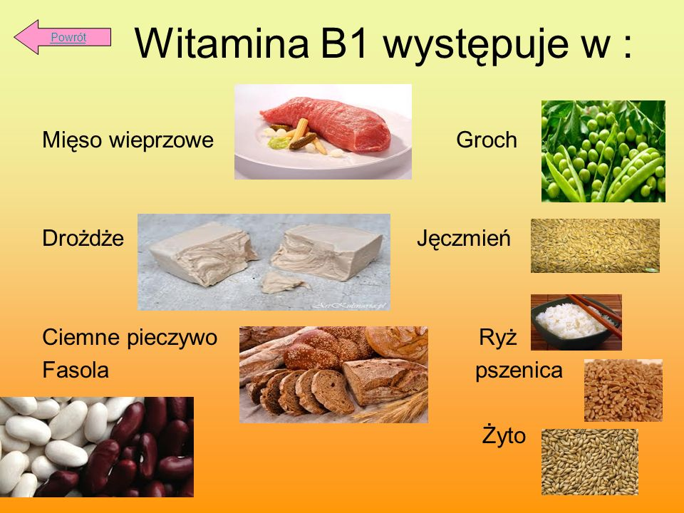 Witamina B1 występuje w :