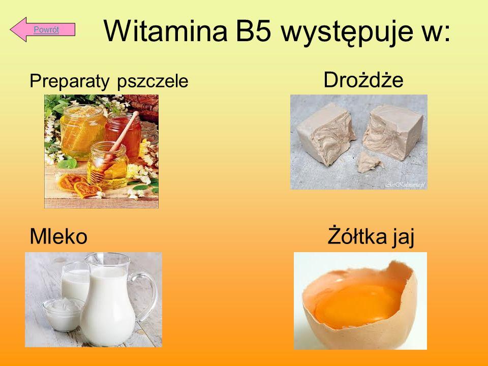 Witamina B5 występuje w: