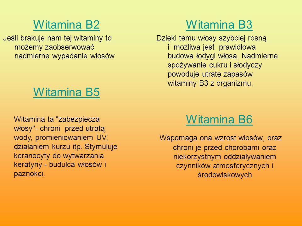 Witamina B2 Witamina B5 Witamina B3 Witamina B6