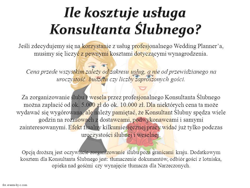 Ile kosztuje usługa Konsultanta Ślubnego