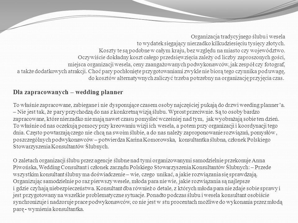 Dla zapracowanych – wedding planner