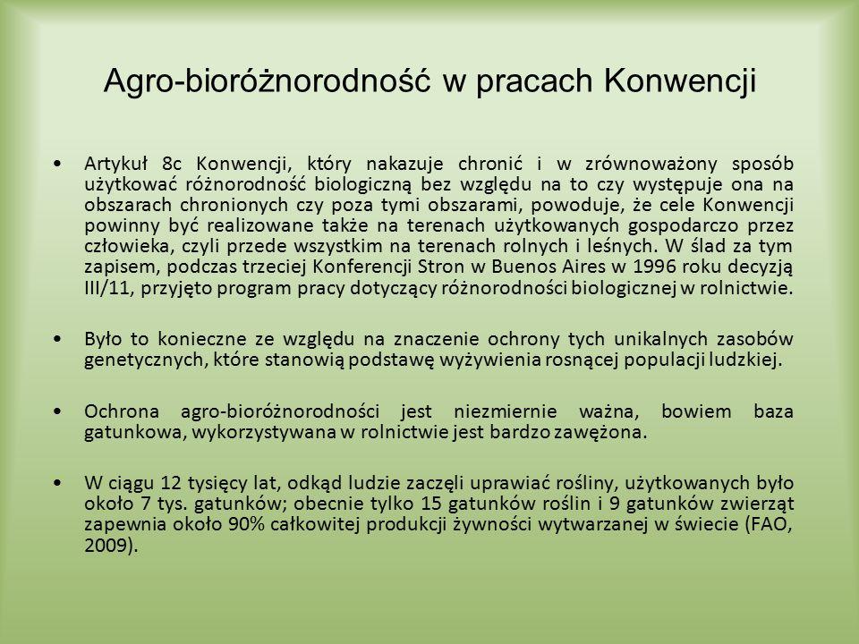 Agro-bioróżnorodność w pracach Konwencji