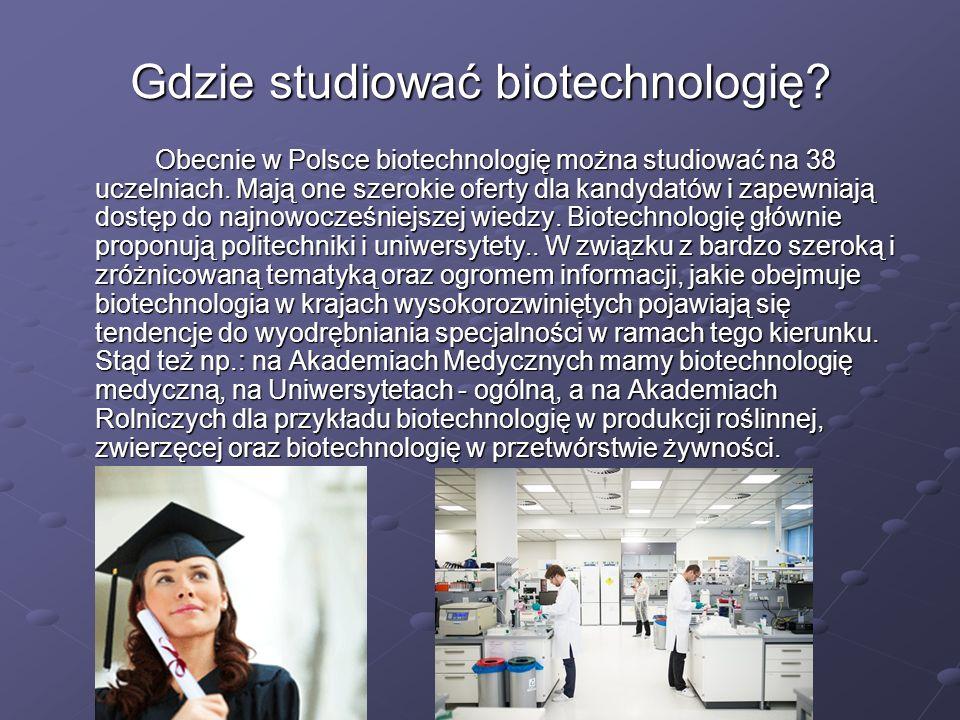 Gdzie studiować biotechnologię