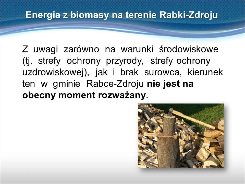 Energia z biomasy na terenie Rabki-Zdroju