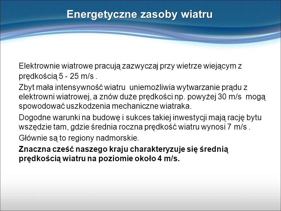 Energetyczne zasoby wiatru