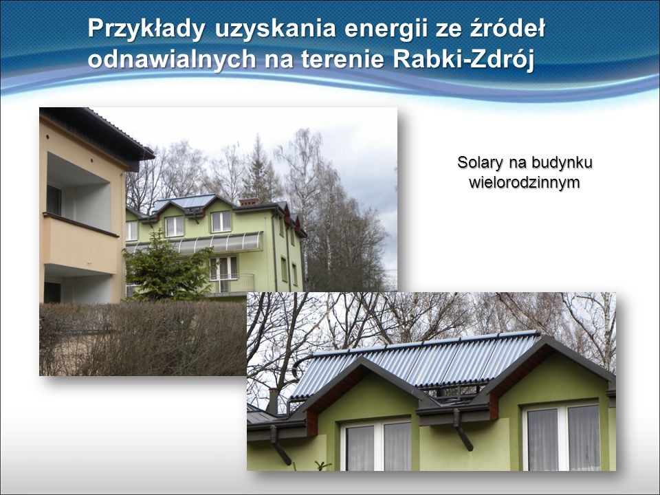 Solary na budynku wielorodzinnym
