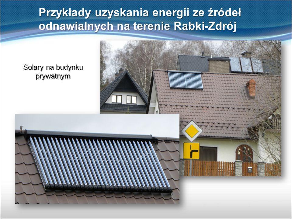 Solary na budynku prywatnym