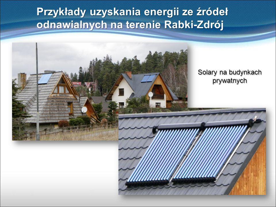 Solary na budynkach prywatnych