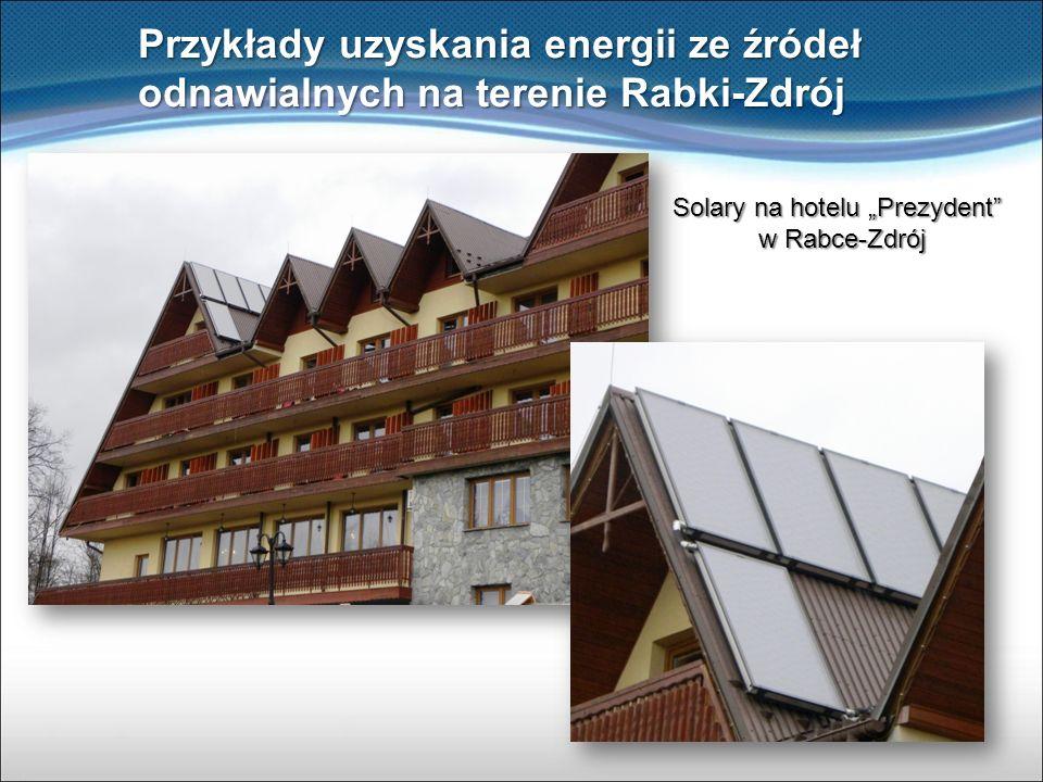 """Solary na hotelu """"Prezydent w Rabce-Zdrój"""