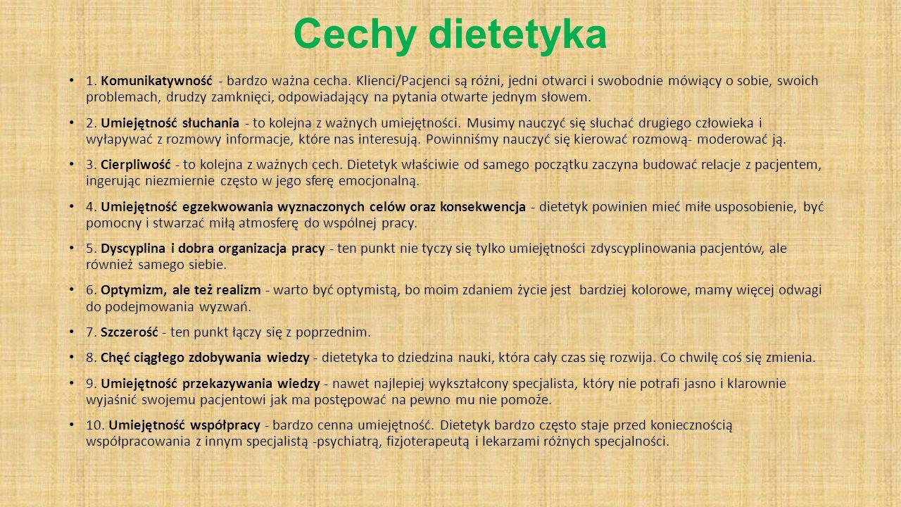 Cechy dietetyka