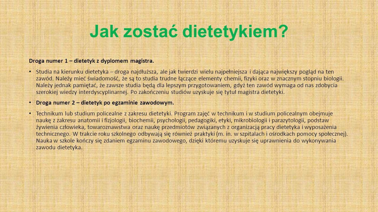 Jak zostać dietetykiem
