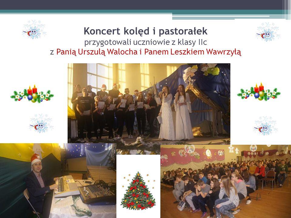 Koncert kolęd i pastorałek przygotowali uczniowie z klasy IIc z Panią Urszulą Walocha i Panem Leszkiem Wawrzyłą