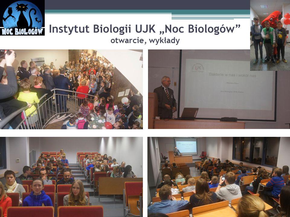 """Instytut Biologii UJK """"Noc Biologów otwarcie, wykłady"""