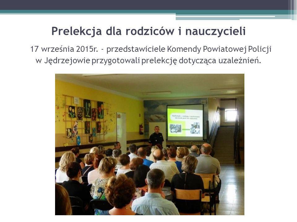 Prelekcja dla rodziców i nauczycieli 17 września 2015r