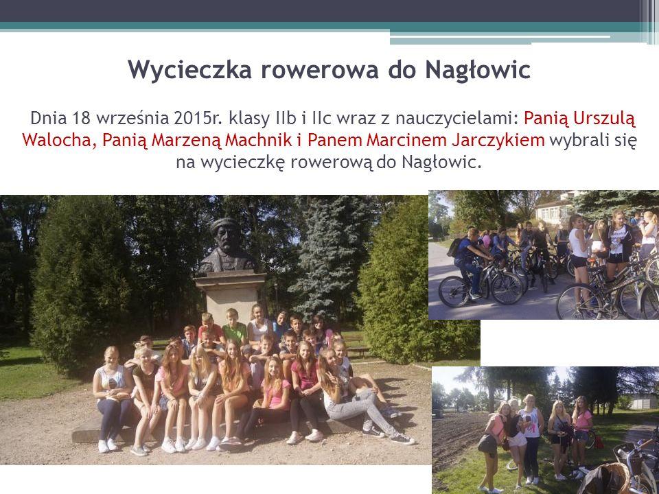 Wycieczka rowerowa do Nagłowic Dnia 18 września 2015r