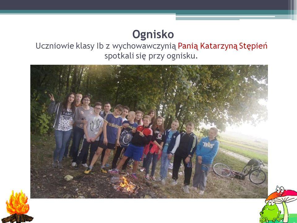 Ognisko Uczniowie klasy Ib z wychowawczynią Panią Katarzyną Stępień spotkali się przy ognisku.