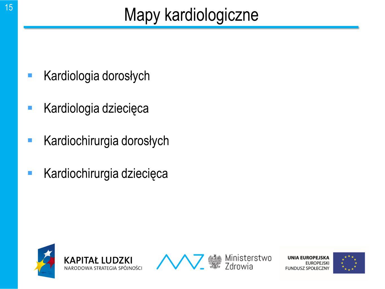 Mapy kardiologiczne Kardiologia dorosłych Kardiologia dziecięca