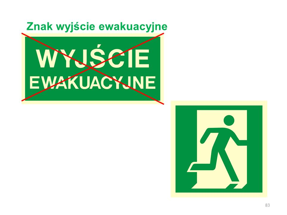 Znak wyjście ewakuacyjne