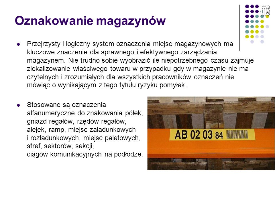 Oznakowanie magazynów
