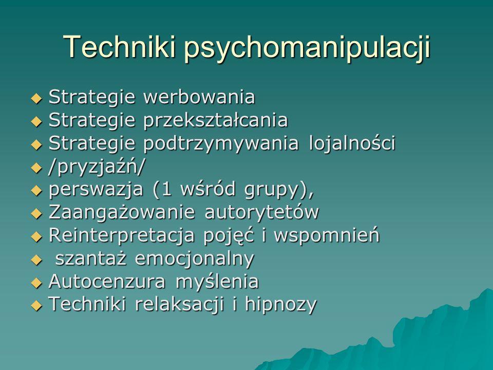 Techniki psychomanipulacji
