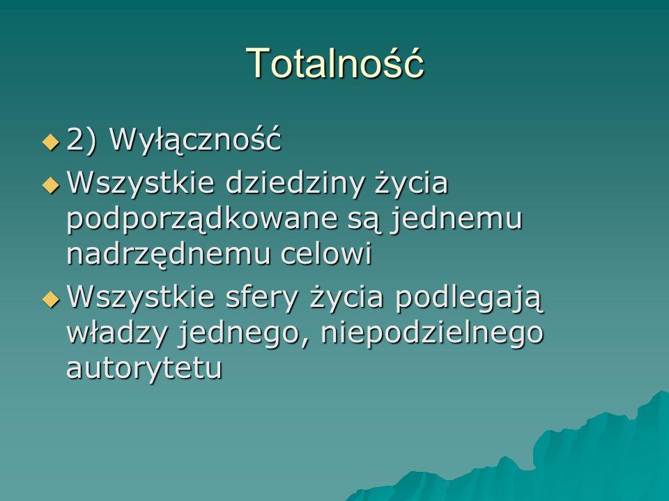 Totalność 2) Wyłączność