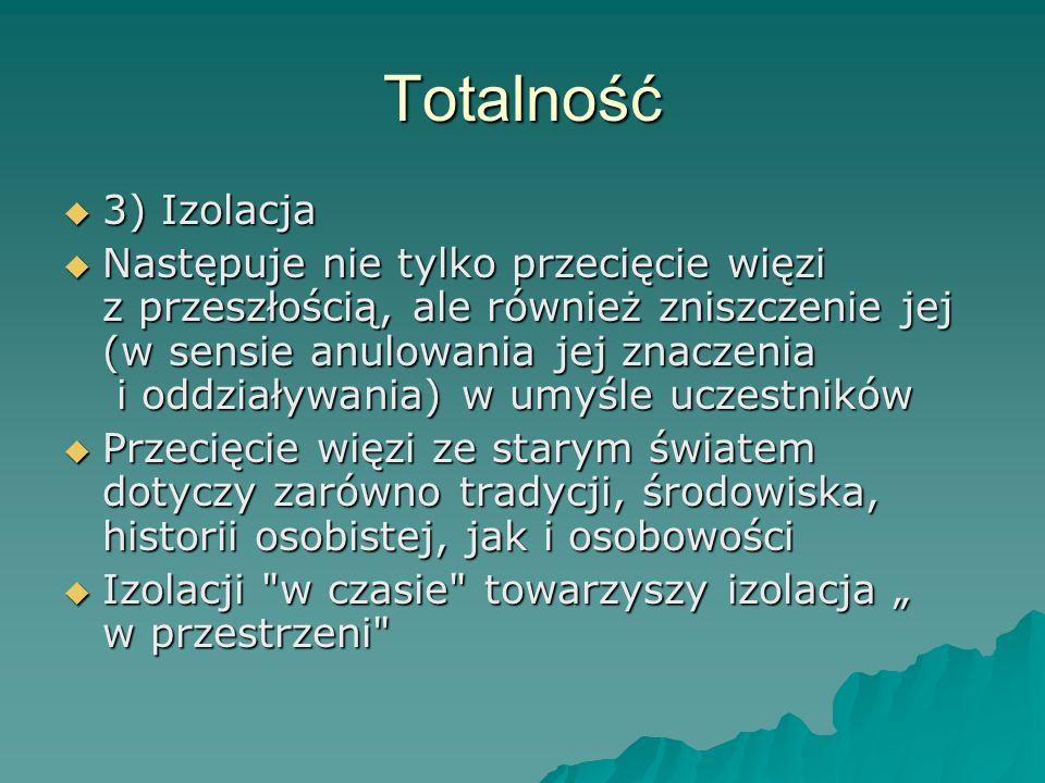Totalność 3) Izolacja.