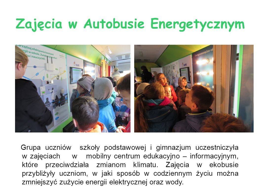 Zajęcia w Autobusie Energetycznym