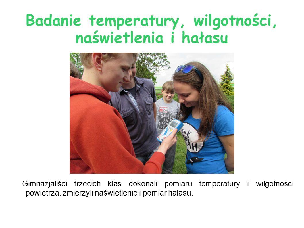 Badanie temperatury, wilgotności, naświetlenia i hałasu