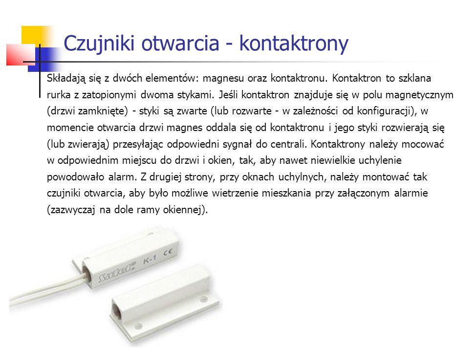 Czujniki otwarcia - kontaktrony