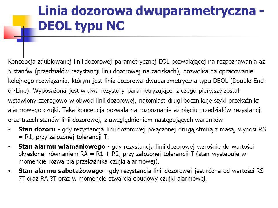 Linia dozorowa dwuparametryczna - DEOL typu NC