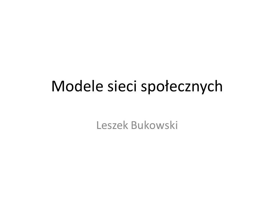 Modele sieci społecznych