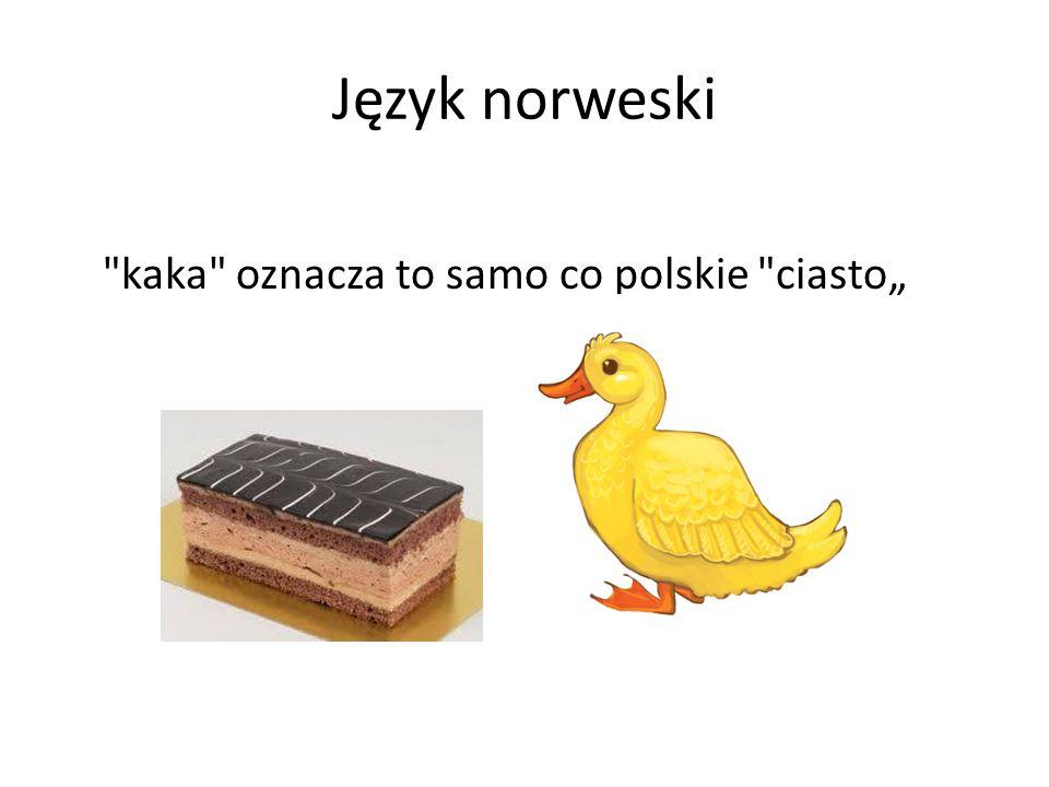 """Język norweski kaka oznacza to samo co polskie ciasto"""""""