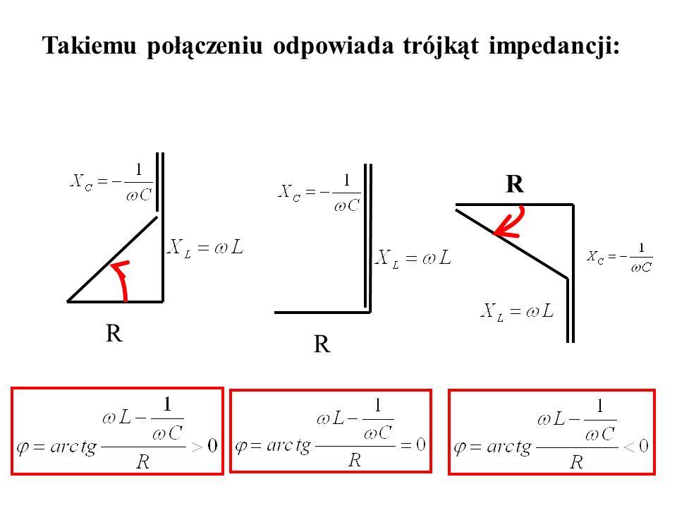 Takiemu połączeniu odpowiada trójkąt impedancji: