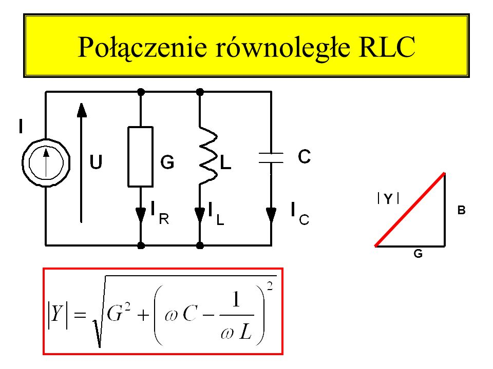Połączenie równoległe RLC