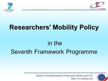 Researchers' Mobility Policy