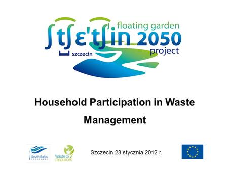Household Participation in Waste Management