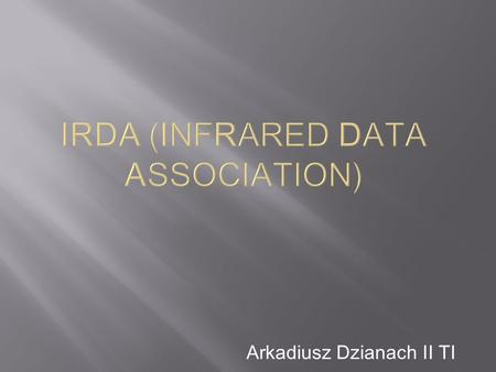 IrDA (Infrared Data Association)