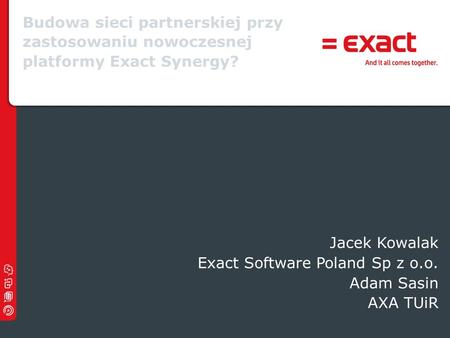Exact Software Poland Sp z o.o. Adam Sasin AXA TUiR
