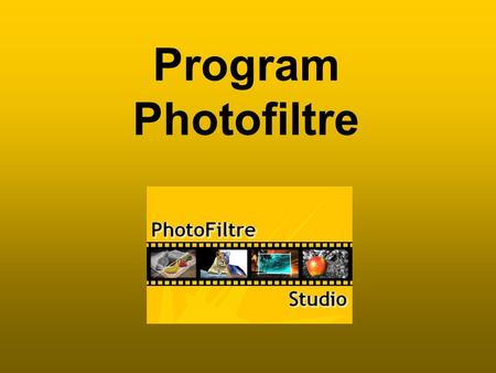 Program Photofiltre.